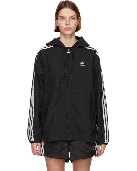 Adidas Originals ブラック Adicolor Classics ウインドブレーカー ジャケット Black