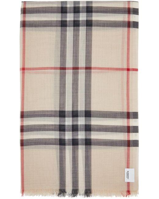 Burberry ベージュ チェック スカーフ Natural
