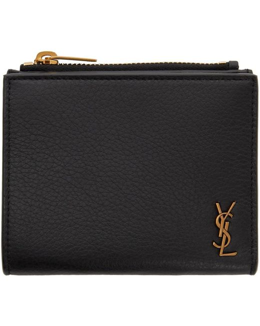 Saint Laurent Black Tiny Monogramme Card Holder
