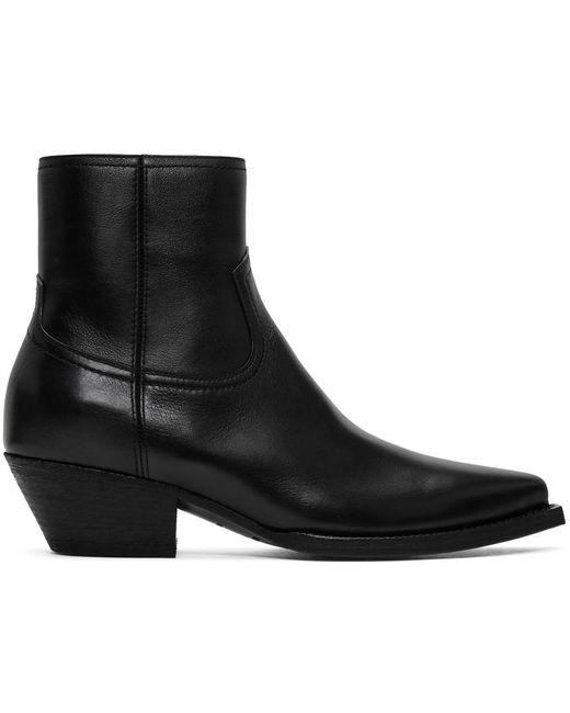 メンズ Saint Laurent ブラック Lukas ジップ ブーツ Black