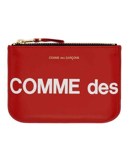 Comme des Garçons レッド ヒュージ ロゴ ポーチ Red