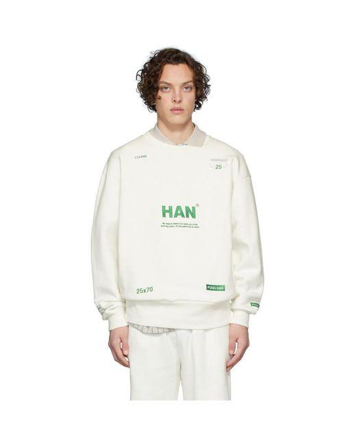 メンズ Han Kjobenhavn オフホワイト Bulky クルー スウェットシャツ White