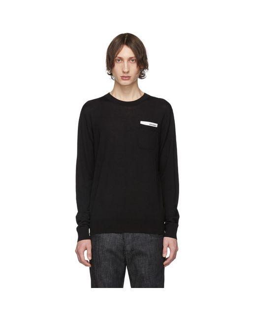 メンズ DSquared² ブラック ポケット セーター Black