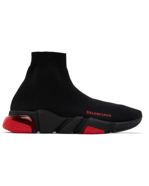 メンズ Balenciaga ブラック & レッド Speed スニーカー Black