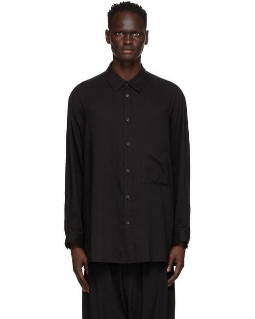 メンズ Yohji Yamamoto ブラック ブラウス Black