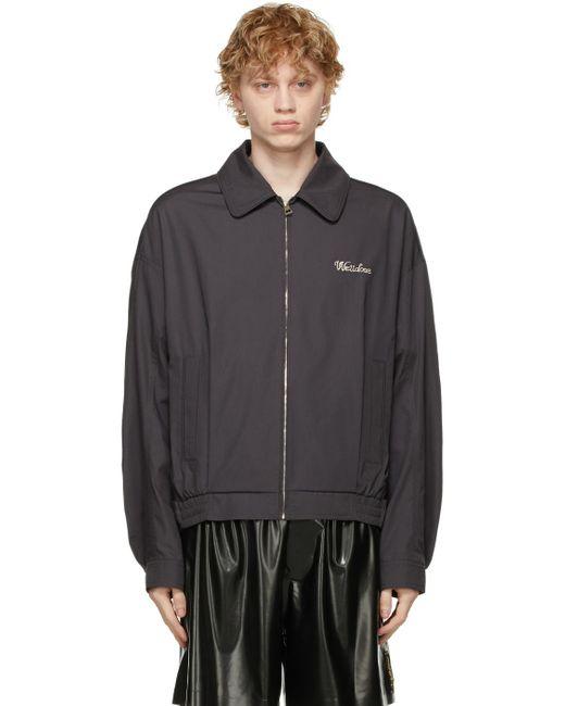 メンズ we11done グレー ロゴ ブルゾン ジャケット Gray