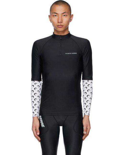 メンズ MARINE SERRE ブラック Optic Moon Sea Skin トレーニング T シャツ Black