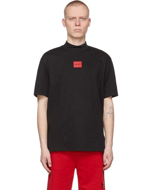 メンズ HUGO ブラック Dabagari T シャツ Black