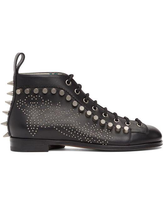 Gucci ブラック Brogue Detail ブーツ Black