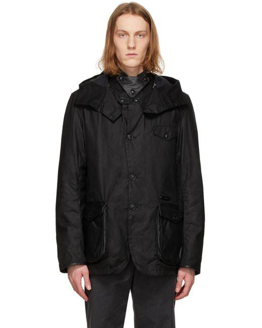 メンズ Barbour ブラック Supa-com ワックス ジャケット Black