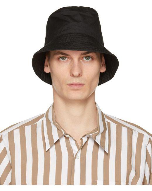 メンズ Engineered Garments ブラック バケット ハット Black