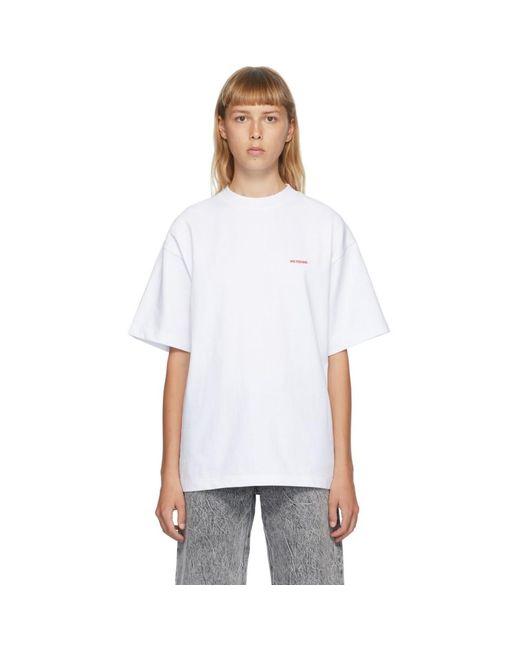 we11done ホワイト ハイネック ロゴ T シャツ White