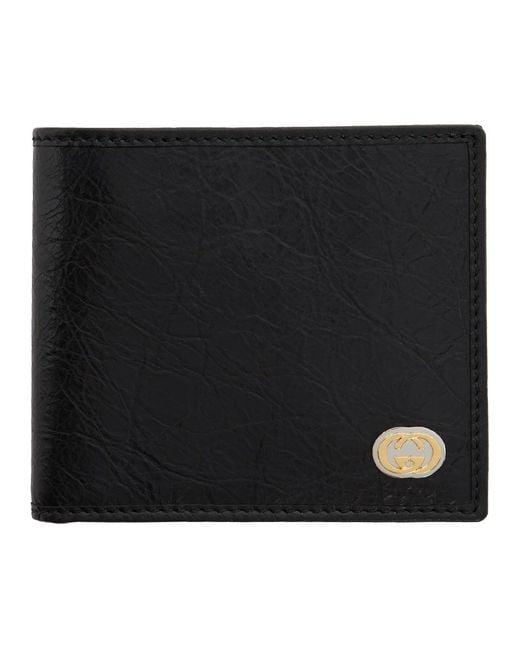 Gucci Black Interlocking G Bifold Wallet for men
