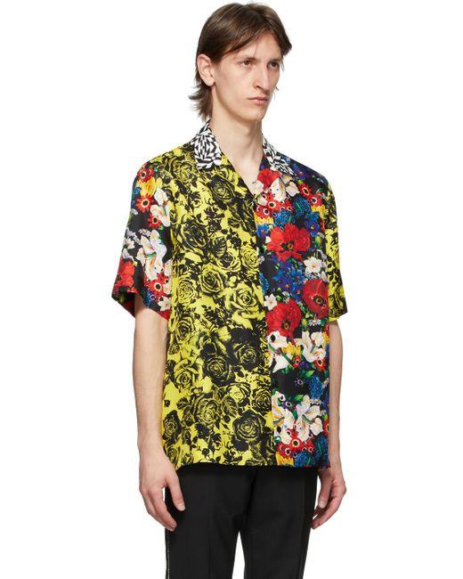 メンズ Versace Ssense 限定 マルチカラー Bouquet シルク シャツ Green