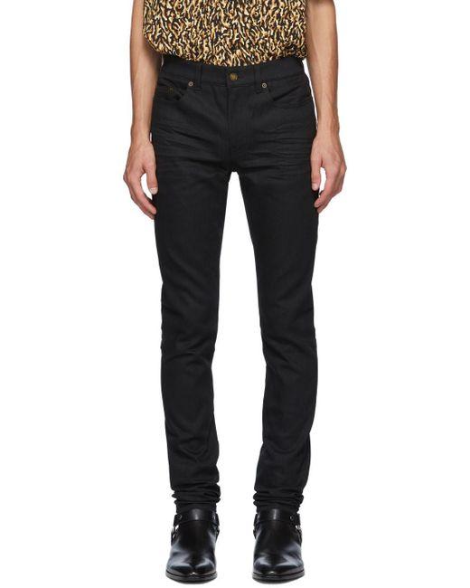 メンズ Saint Laurent ブラック スキニー ジーンズ Black