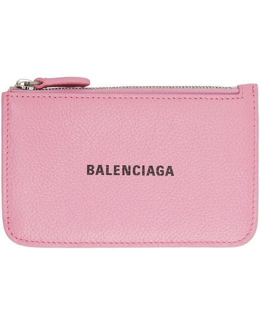 Balenciaga ピンク ロング Essential コイン & カード ケース Pink