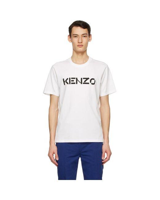 メンズ KENZO ホワイト ロゴ T シャツ White