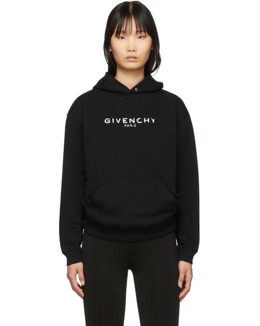 Givenchy ブラック ビンテージ フーディ Black