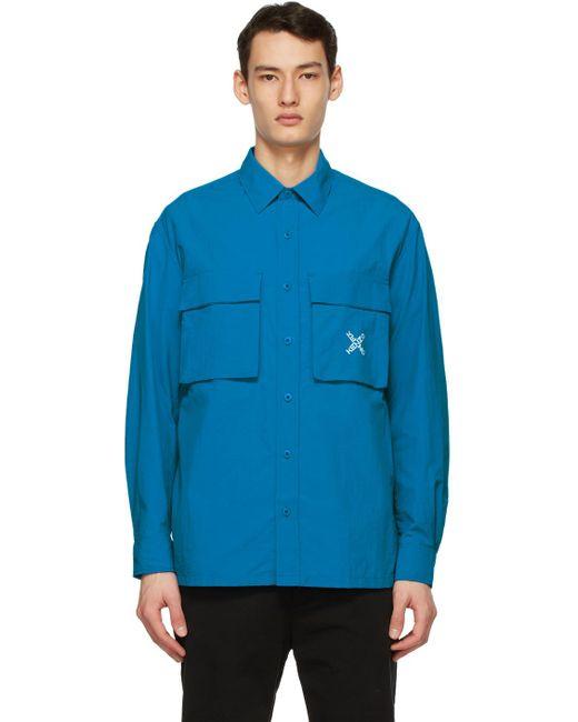 メンズ KENZO ブルー Sport Little X オーバー シャツ Blue