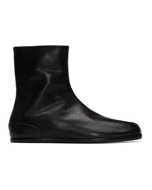 メンズ Maison Margiela ブラック フラット タビ ブーツ Black