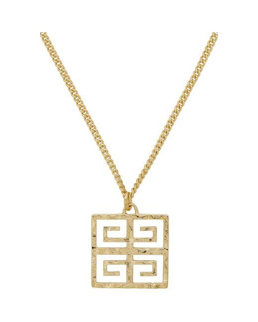 Givenchy ゴールド 4g ロング ペンダント ネックレス Metallic