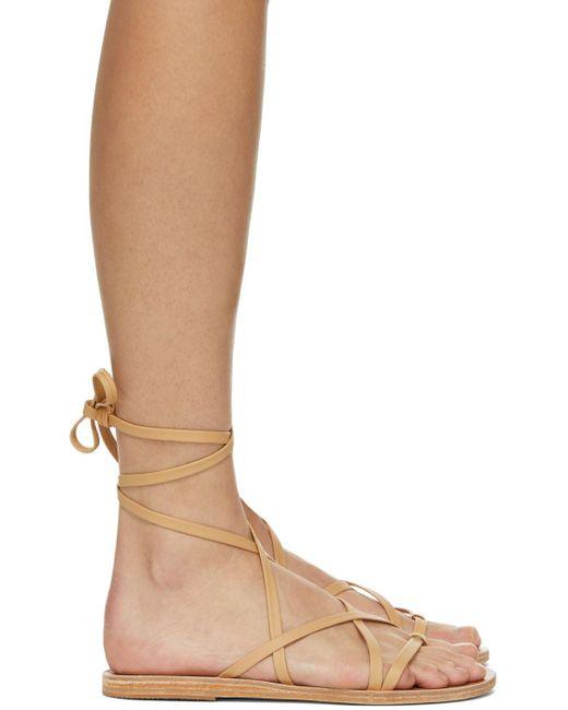 Ancient Greek Sandals タン Morfi サンダル Natural