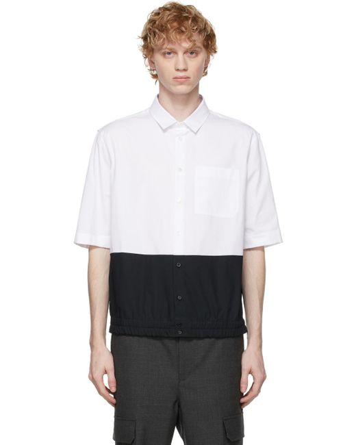 メンズ Neil Barrett ホワイト & ブラック シャツ White