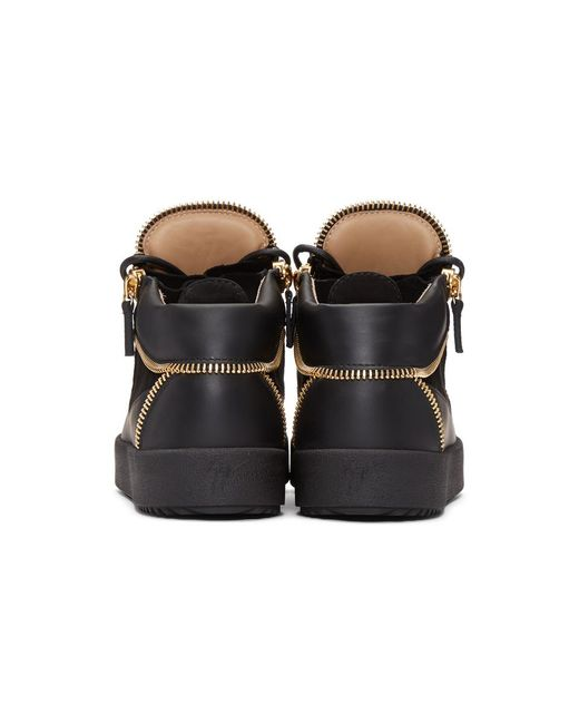 ... Giuseppe Zanotti - Black Baskets montantes a glissiere noires May  London for Men - Lyst ... 45c03a49918a