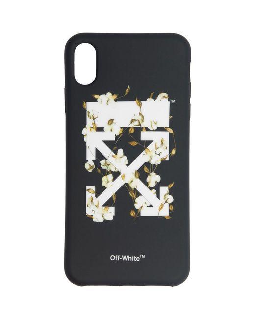 Off-White c/o Virgil Abloh ブラック コットン アロー Iphone Xs Max ケース Black