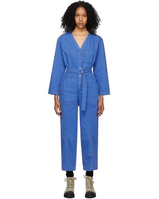 A.P.C. ブルー Gaelle ジャンプスーツ Blue