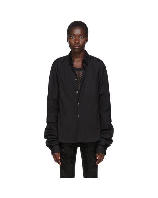 Comme des Garçons ブラック ダブル レイヤー シャツ Black