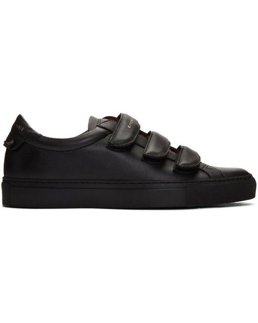 メンズ Givenchy ブラック Urban Knots ストラップ スニーカー Black