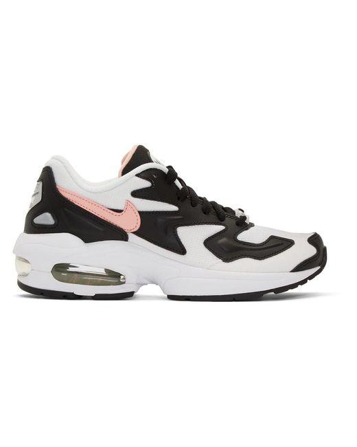 Nike ブラック And ホワイト エア マックス 2 ライト スニーカー Black