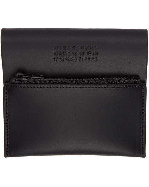 メンズ Maison Margiela ブラック Zipped ウォレット Black
