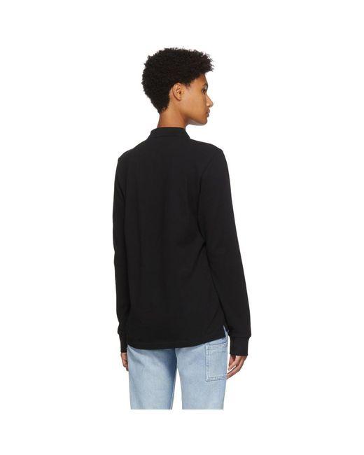 Carhartt WIP ブラック Chase ロング スリーブ ポロシャツ Black