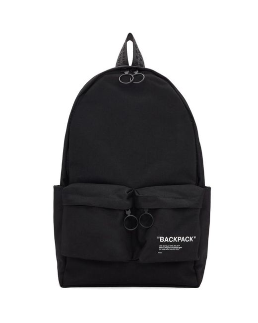 Off-White c/o Virgil Abloh Black Quote Backpack