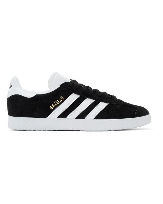 Adidas Originals ブラック ガゼル スニーカー Black
