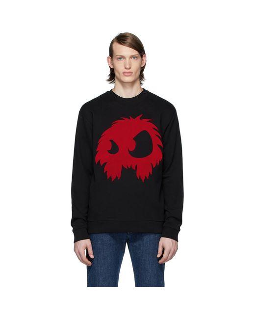 メンズ McQ Alexander McQueen ブラック And レッド Chester スウェットシャツ Black