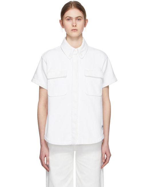 MM6 by Maison Martin Margiela ホワイト Towelling 2 ポケット ショート スリーブ シャツ White