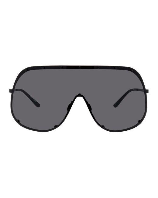Rick Owens ブラック シールド サングラス Black