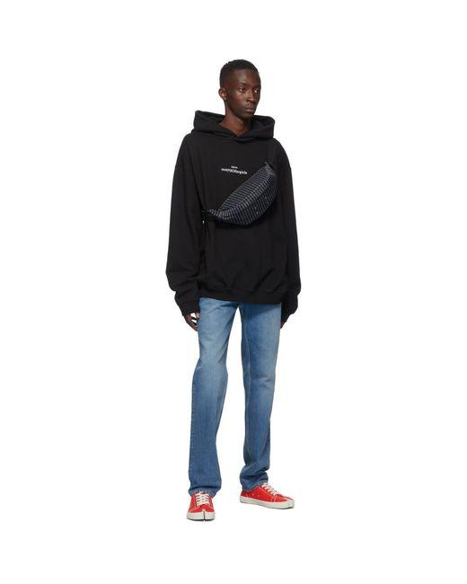 メンズ Maison Margiela ブラック ロゴ フーディ Black
