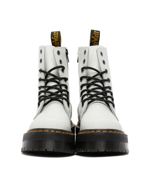 Dr. Martens ホワイト Jadon Retro Quad ブーツ White