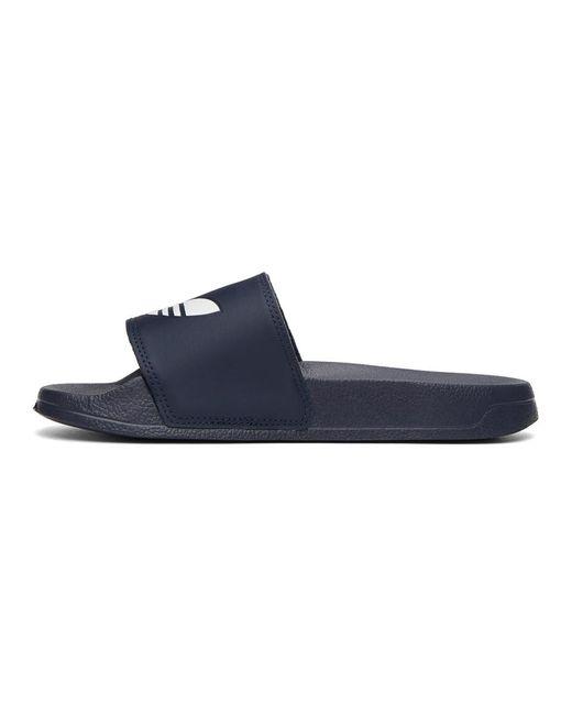 メンズ Adidas Originals ネイビー Adilette Lite プール スライド Blue