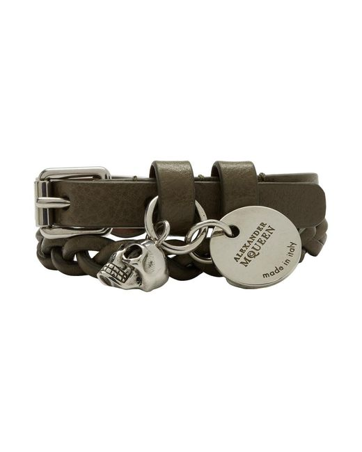 Alexander McQueen - Green Double Wrap Bracelet for Men - Lyst