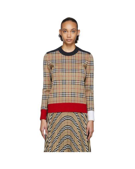 Burberry ベージュ Zambezi セーター Multicolor