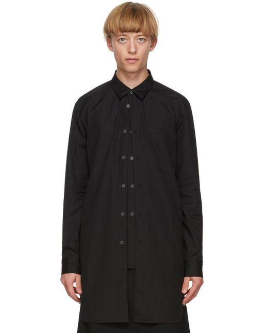 メンズ Comme des Garçons ブラック レイヤード シャツ Black
