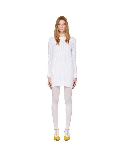 See By Chloé ホワイト レース セーター ドレス White