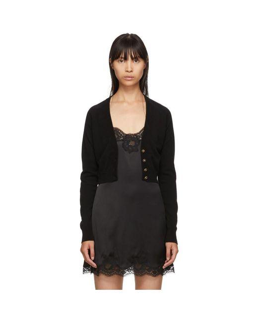 Dolce & Gabbana ブラック カシミア カーディガン Black