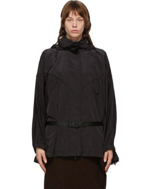 Juun.J ブラック ベルト コート Black
