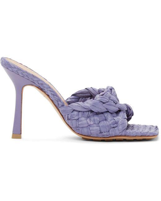 Bottega Veneta パープル ストレッチ ヒール ミュール Purple